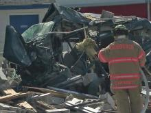 Lucama store crushed by runaway truck