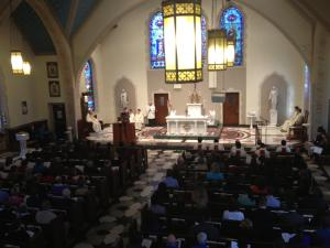 Catholics from around the Triangle came together Friday at Sacred Heart Cathedral in Raleigh to pray for the new pope.