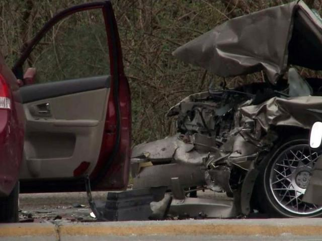 Two people were killed and a third person injured in a head-on collision on Wade Avenue on March 17, 2013.