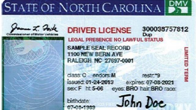 "Driver's licenses issues to participants in the federal Deferred Action for Childhood Arrivals program would be marked with the phrase ""Legal Presence No Lawful Status."""