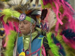 "The Native American Haliwa-Saponi annual pow-wow theme was ""Keeping the Faith."""