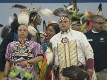 "The Native American Haliwa-Saponi annual pow-wow theme was ""Keeping the Faith."""