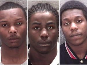 Rocky Mount police are seeking (from left): Jaquaan Harris, Dominick Parker and Travis Pope.