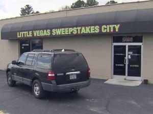 Three months after the North Carolina Supreme Court upheld the state's ban on video sweepstakes machines, Cumberland County authorities began cracking down on area sweepstakes businesses on March 26, 2013.