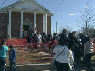 The Durham Rescue Mission held its annual Easter celebration for hundreds of low-income people on March 29, 2013.
