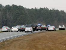 Law enforcement officials involved in a standoff March 31, 2013, that ended with a Winston-Salem woman being fatally shot by the North Carolina State Highway Patrol. (Photo courtesy of Phillip Benz/Benz Productions)