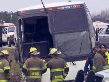Charter bus from Chapel Hill flips in Virginia