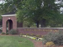North Carolina Wesleyan College, N.C. Wesleyan sign