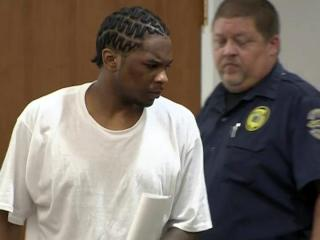 Laurence Lovette enters an Orange County courtroom on April 26, 2013, for a resentencing hearing that was ultimately delayed. Lovette was convicted of robbing and killing UNC-Chapel Hill student body president Eve Carson in March 2008.