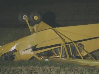 A man and woman were hurt when their Piper aircraft crashed in a field in Johnston County near Selma.
