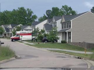 Braemar Highland Drive in Zebulon, where three houses were struck by stray bullets Sunday