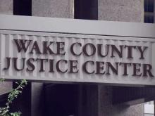 Wake County Justice Center sign