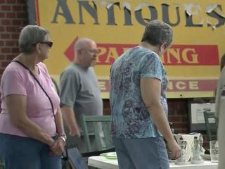 The towns of Kenly, Selma, Smithfield and Benson welcome bargain shoppers along U.S. Highway 301 for a yard sale Saturday, June 15, 2013.