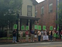 Supporters of Grass Roots NC rally in downtown Raleigh Saturday, June 22, 2013.