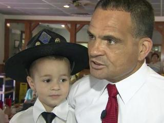 Rivers Malcolm was sworn in as an honorary member of the North Carolina State Highway Patrol.