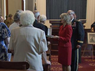 A group of WWI Veterans were honored Saturday for their service.