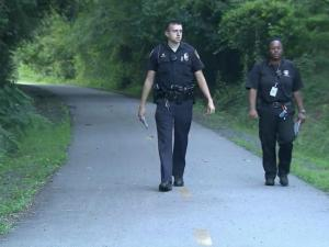 A woman was robbed at gunpoint on the American Tobacco Trail near Otis Street in Durham Tuesday evening, police said, the same general location where a man was robbed earlier this month.