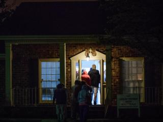 People wait in line to enter the Carolina Treatment Center for methadone early Thursday morning.