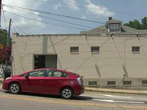 CityGate Real Estate building after owner Doro Taylor covered up the 13-year-old mural with a fresh coat of paint.