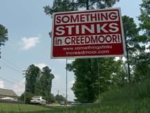 Creedmoor sewer plant opposition sign