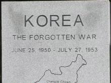 Korean War monument in Fayetteville