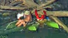 IMAGES: Kayker trapped, rescued on Durham County river