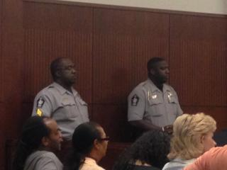Six uniformed deputies were in the courtroom Thursday for the verdict in the murder trial of Samuel Gideon, 36.