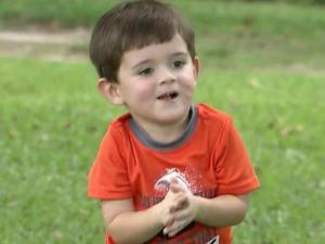 Will Baggett, 3, is recovering after being mauled by a pit bull in May.