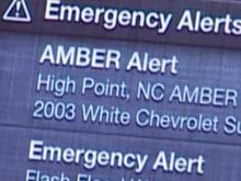 Amber Alert text message