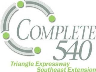 """The North Carolina Department of Transportation has created this logo for the """"Complete 540"""" project to close Raleigh's outer loop, N.C. Higway 540."""