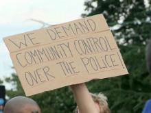 Durham police protest
