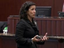 Wake County Assistant District Attorney Melanie Shekita gives closing arguments on Sept. 27, 2013, in the sexual battery trial of former East Wake Academy headmaster Brandon Smith.