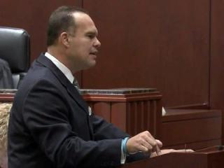 Defense attorney Rob Lane gives closing arguments on Sept. 27, 2013, in the sexual battery trial of former East Wake Academy headmaster Brandon Smith.