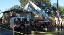 IMAGES: Fire damages Fayetteville apartment complex