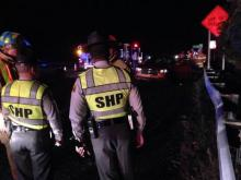 Three people were injured Friday in a wreck on Interstate 540.
