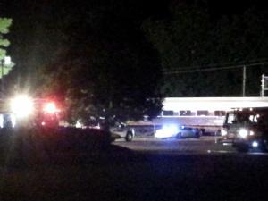 Amtrak train hits vehicle in Garner