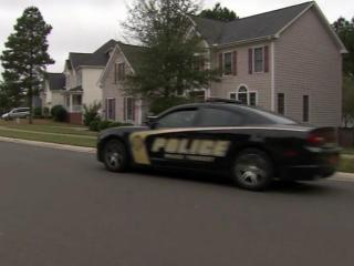 A woman was robbed at gunpoint outside her home in Wake Forest on Oct. 8, 2013.