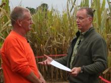WRAL-TV frequently refers to our Meteorologist Mike Maze as a-Maze-ing, but this fall his last name is getting another meaning. Ken's Korny Corn Maze in Garner has mowed his likeness into their corn field for their annual fall entertainment.