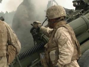 Marines are training on heavy artillery at Fort Bragg this month, and the rumbles can be heard for miles around.