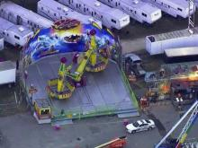 Five people were taken to WakeMed hospital in Raleigh Thursday night after an accident involving the Vortex ride on the lower midway at the North Carolina State Fair.