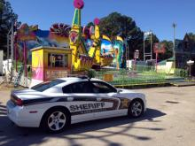 Wake County deputies cordoned off the Vortex on the State Fair midway on Oct. 25, 2013, after an accident that injured five people.