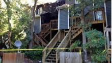 IMAGES: Bride-to-be loses townhouse in Cary fire