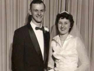 Reuben and Evelyn Ewert grew up together and married in 1955.