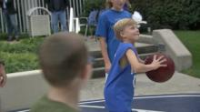 IMAGES: Basketball is medicine at hospital's Coach K Court