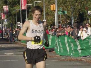 There were plenty of smiles at the finish line Sunday of the City of Oaks marathon.
