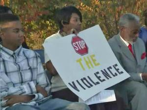 About 100 people gathered in a Fayetteville park to hear a plan for clergy and law enforcement to work together to reduce violence.