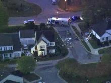 Sky 5: Truck crashes into two Apex homes