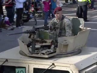 """Thousands of people lined the streets in downtown Fayetteville Saturday, Nov. 9, 2013, for the 15th Veterans Day parade, the biggest event of the city's annual """"Heroes Homecoming"""" celebration."""