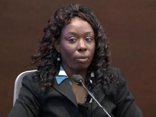 Crystal Mangum testifies in her own defense on Nov. 20, 2013, during her murder trial.