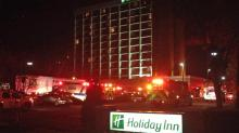 IMAGE: Sprinklers extinguish small fire at Holiday Inn in Raleigh